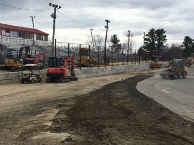 Construction has been underway this off-season at Wiscasset.  (Wiscasset Speedway Photo)