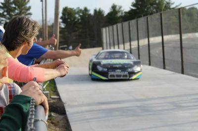 The new victory lane at Wiscasset Speedway.  (Wiscasset Speedway Photo)
