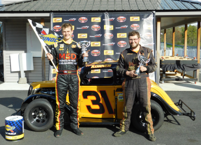 The Korner Brothers in victory lane at Thompson.  (Thompson Speedway Motorsports Park Photo)