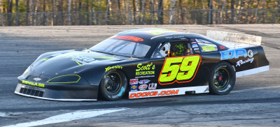 Ried Lanpher's #59 Super Late Model.  (PASS Photo)