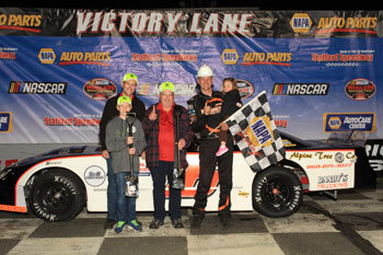 Michael Bennett in victory lane at Stafford  (Stafford Motor Speedway Photo)