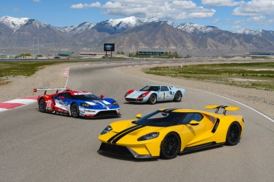 The Ford GT - street, race and Historic versions.  (Ford Photo)