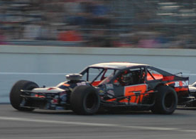 Keith Rocco in the #57 Modified.  (NASCAR Photo)