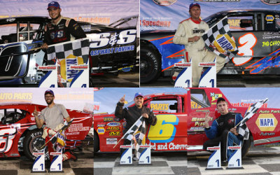 Friday night's winners at Stafford Motor Speedway  (Stafford Motor Speedway Photo Arrangement)
