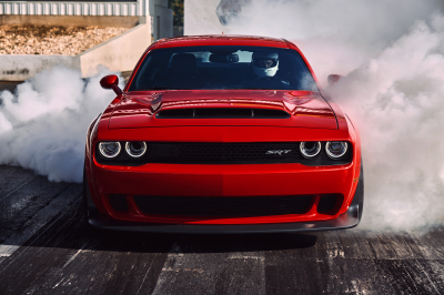 The Challenger SRT Demon at play.  (FCA Photo)
