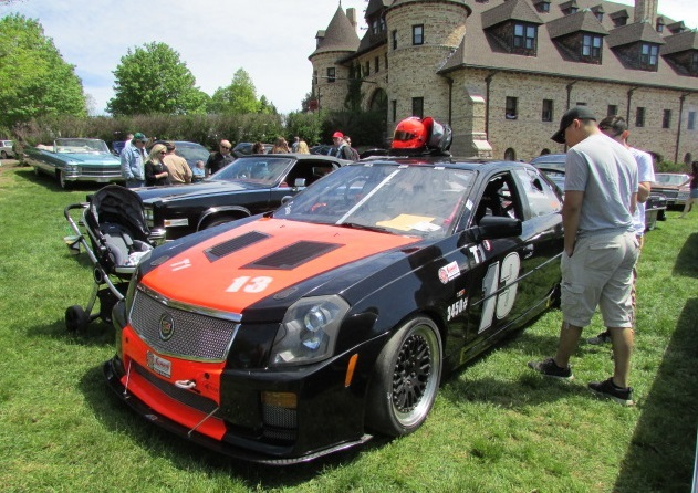 A road racing CTS-V was one of the show highlights.  (Mike Twist Photo)