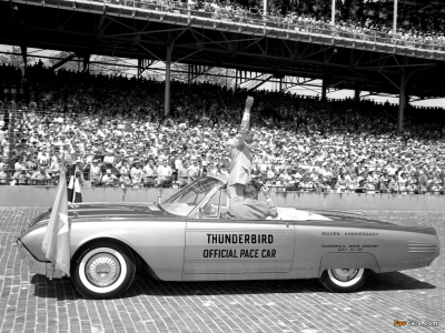 The 1961 Ford Thunderbird Indianapolis 500 pace car.