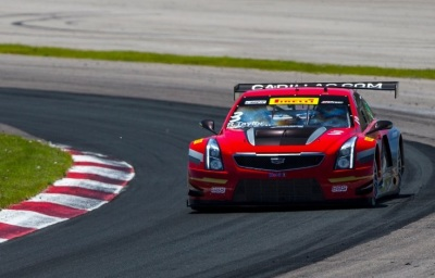 The Cadillac ATS-VR races in the SpringX Division.  (GM Corporate Logo)