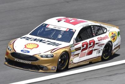 Joey Logano's #22 Ford at Charlotte.  (NASCAR Photo)