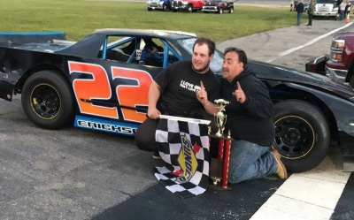 The Ericksons in victory lane at Star.  (Allyson Erickson Photo)