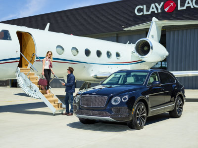 Bentley owners can step right off a jet and into a car seemlessly.  (Bentley Photo)