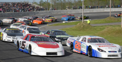 Andrew McLaughlin (#26) and Ben Ashline (#15) in the Coastal 200.  (Wiscasset/Peter Taylor Photo)