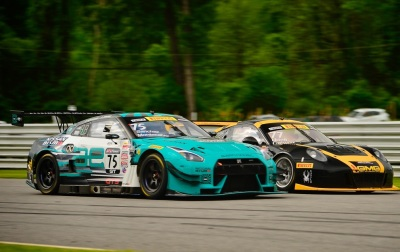 Nissan and Porsche go wheel-to-wheel at Lime Rock.  (Nissan Photo)