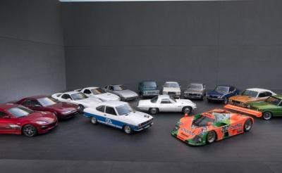 50 years worth of Mazda machines.  (Mazda Photo)