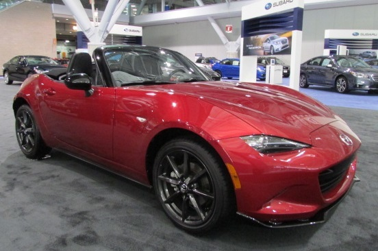 The Mazda Miata won a NEMPA Ragtop award for Best Affordable Convertible.  (Mike Twist Photo)