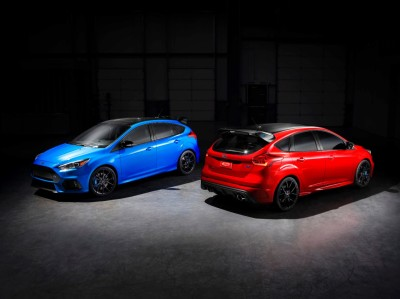 The Nitrous Blue and Race Red Focus RS  (FoMoCo Photo)