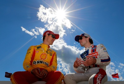 Joey Logano (Left) and Ryan Blaney (Right) at Dover.  (NASCAR Photo)