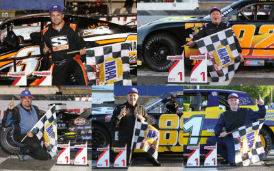 The weekly series winners at Stafford on June 2nd.  (Stafford Motor Speedway Photo)