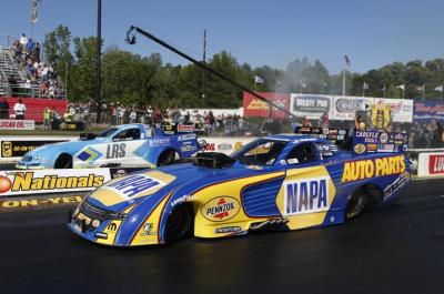 NHRA Funny Cars in Action  (Fiat Chrysler Automobiles Photo)