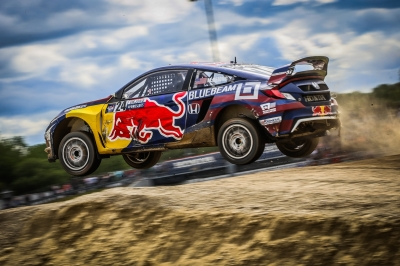 Global RallyCross doesn't just take place on the ground.  (Honda Photo)