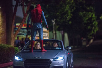 Audis and Spider Man are no strangers to each other.  (Audi Photo)