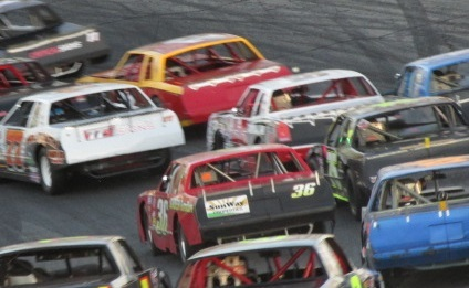 A pack of street stocks.  (Mike Twist Photo)