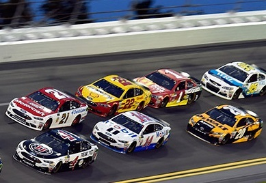 Joey Logano (#22) in a tight pack at Daytona.  (Team Penske Photo)