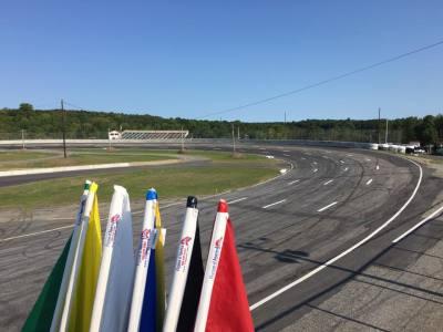 Looking over turn one at Wiscasset Speedway.  (Wiscasset Speedway Photo)
