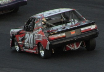 Wayne Burroughs currently leads the Mini Stock point standings at Thompson.  (Mike Twist Photo)