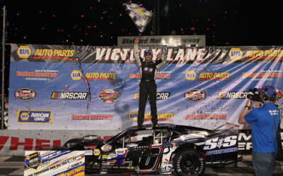 Chase Dowling in victory lane at Stafford.  (SMS Photo)
