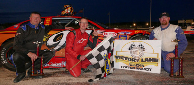 Shawn Martin in victory lane.  (OPS Photo)