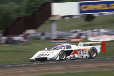 Jones at Lime Rock in the AAR Toyota in 1993.  (LRP Photo)