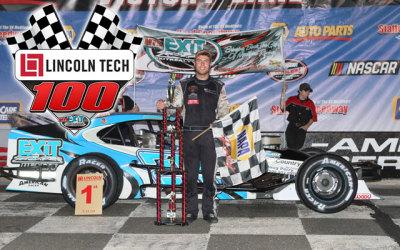 Jon McKennedy in victory lane.  (SMS Photo)