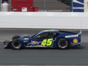 Dan Meservey's #45 Modified.  (Mike Twist Photo)