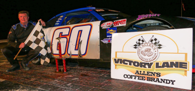 Tim Brackett in victory lane at Oxford.  (OPS Photo)