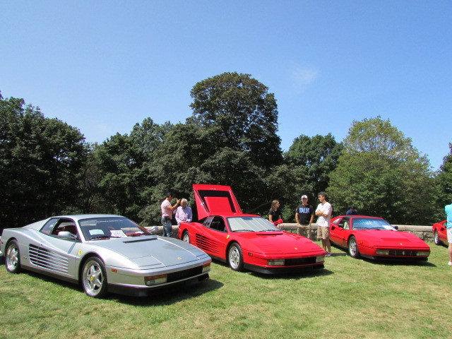 A few Ferraris at Tutto Italiano.  (Mike Twist Photo)