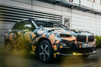 The BMW X2 in camo colors.  (BMW Photos)