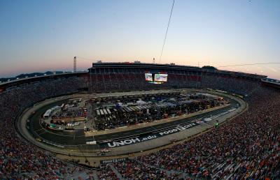 Bristol Motor Speedway under the lights.  (NASCAR Photo)