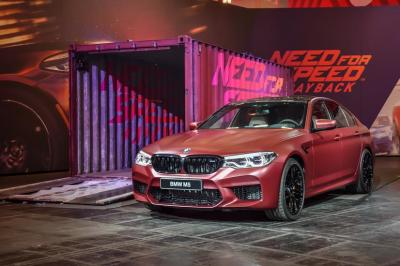 World premiere of the all-new BMW M5 in Need for Speed ™ Payback (Electronic Arts).  (BMW Photo)
