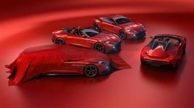 The Aston Martin Vanquish Zagato lineup.  (Aston Martin Photo)