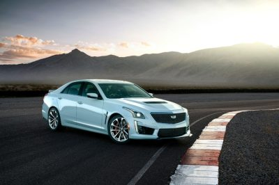 The 2018 Cadillac CTS-V Glacier Edition.  (GM Photo)