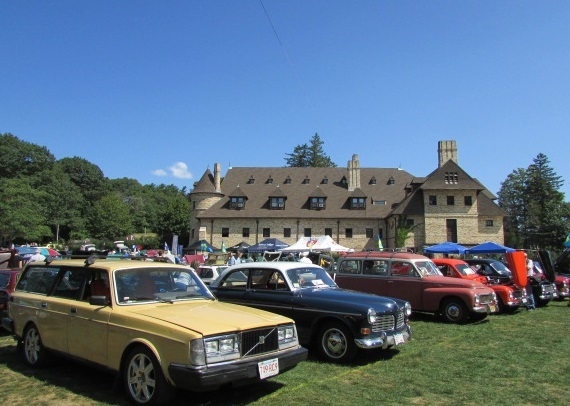 A few vintage Volvos from Swedish Car Day.  (Mike Twist Photo)