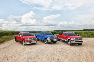 The lineup of Ram Harvest Edition trucks.  (FCA Photo)