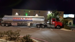 A Dennis K Burke truck gets ready to hit the road.  (Dennis K Burke Photo)