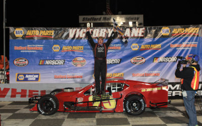 Rowan Pennink in victory lane at Stafford.  (SMS Photo)