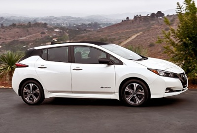 The 2018 Nissan Leaf.  (Nissan Photo)