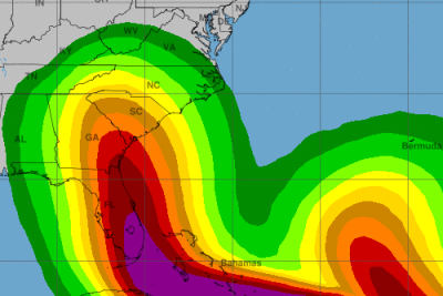 Hurricane Irma is threatening the Southeast.  (NOAA Graphic)