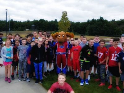 New Hampshire Motor Speedway mascot Milo Moose and a few friends.  (NHMS Photo)