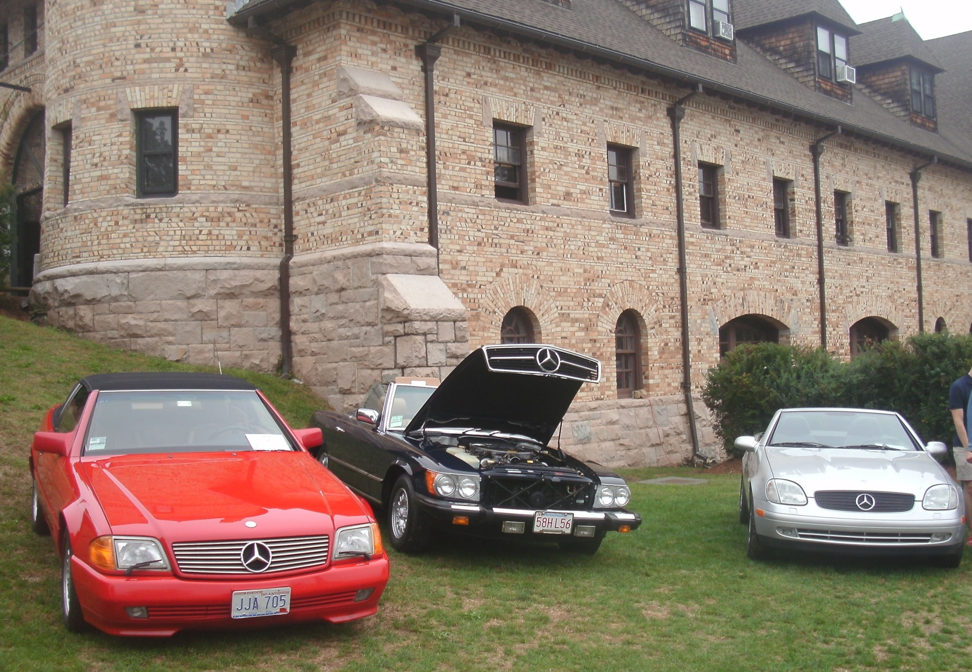 A trio of Benz convertibles on the Lawn.  (Mike Twist Photo)
