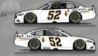The #52 Cross Insurance Ford.  (KSR Rendering)